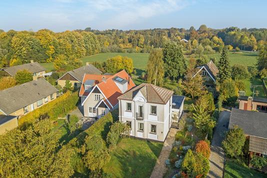 Villa på Nyvangen i Ballerup - Luftfoto