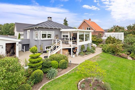 Villa på Glentevej i Silkeborg - Facade havesiden