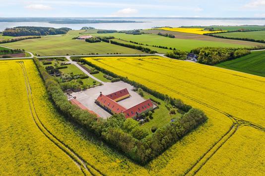 Villa på Skyumvej i Snedsted - Luftfoto