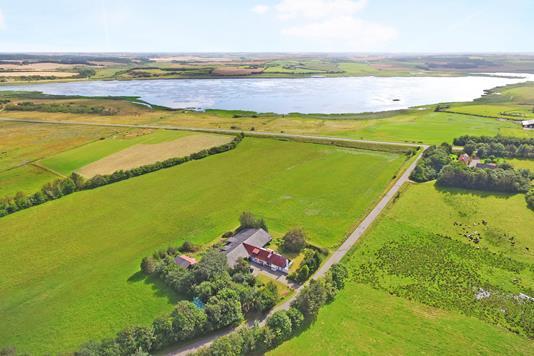 Landejendom på Nedergårdsvej i Bedsted Thy - Luftfoto