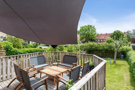 Villa på Skolegade i Nykøbing F - Altan