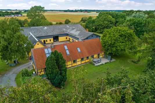 Villa på Humlehaven i Øster Ulslev - Luftfoto