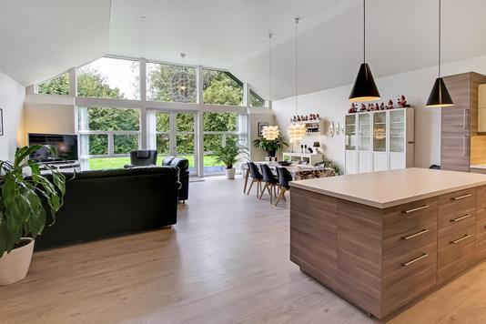 Villa på Asfergvej i Spentrup - Stue