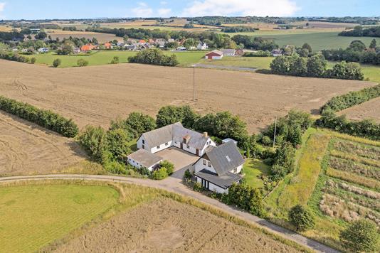 Landejendom på Kildegårdsvej i Slagelse - Luftfoto